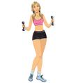 fitness girl vector image