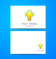 holy cross logo vector image