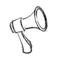 megaphone loudspeaker alert announce icon vector image