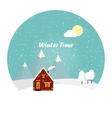 Wonderful winter morning of Christmas vector image