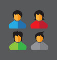 16052019 - set flat icons people icons vector image