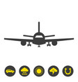 airplane icon on white background vector image vector image