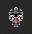 baboon logo design template baboon head icon vector image vector image