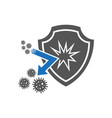 bacteria shield icon simple of vector image vector image