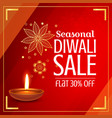 beautiful diwali sale offer and discount with vector image vector image