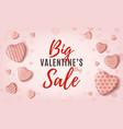 big valentines day sale pink minimalistic web vector image vector image