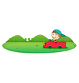 boy driving a car vector image vector image
