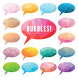 Bubbles Polygonal - Design vector image