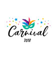 carnival poster banner with colorful party elemen vector image vector image