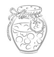 Cartoon image of cherry jam vector image