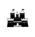 castle icon doodle castle building with tower vector image vector image
