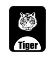 chinese calendar animal monochrome logotype tiger vector image