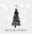 Christmas tree stars stamp