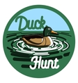 Color vintage hunting emblem vector image