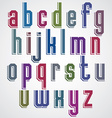Colorful decorative font geometric lowercase vector image