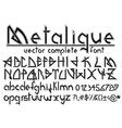 complete font set vector image vector image
