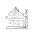country house on white vector image