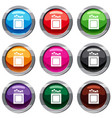 crayons set 9 collection vector image vector image