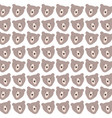 cute bears grizzly pattern background vector image vector image