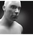 Cyborg Android Robot Humanoid Human Head 3d vector image vector image