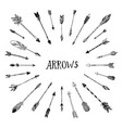 decorative hand drawn arrows vector image vector image