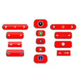 different buttons vector image vector image