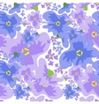 Ditsy pattern with flowers vector image vector image