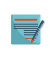 document pen signature money business financial vector image