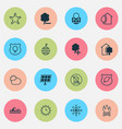 ecology icons set with snowflake no bonfire vector image vector image