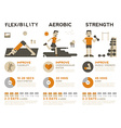 exercise infographic vector image