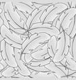 feather bird seamless pattern plume gray vector image