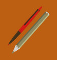 flat shading style icon pen and pencil vector image vector image