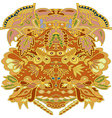 floral ornament drawing in warm tones vector image vector image