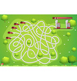 Game template with car and gas station vector image vector image