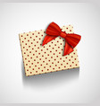 gift box with red ribbon isolated realistic vector image