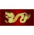 gold of chinese dragon crawling vector image vector image