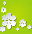 green background with flowers vector image vector image