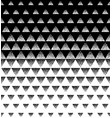 halftone triangular pattern black and vector image
