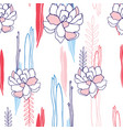hand drawn floral seamless background pattern for vector image