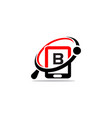 hand phone search initial b vector image