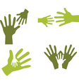 hands together vector image