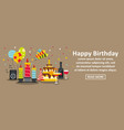 happy birthday banner horizontal concept vector image vector image