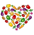 Healthy vegetable heart vector image vector image