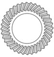 helical gear icon vector image