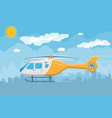 helicopter transport aerial vehicle with propeller vector image