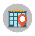 hotel location flat icon vector image