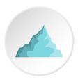 iceberg icon circle vector image vector image