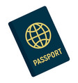 international passport icon flat style vector image