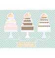 Invitation design with decorative cakes vector image vector image