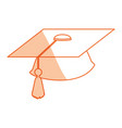 isolated graduation cap vector image vector image